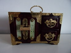 Large Wooden Chinese Jewellery Box