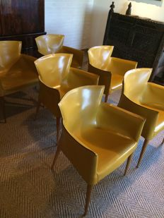 "Carlo Bartoli for Matteo Grassi - six ""Vela"" chairs"