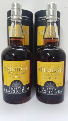 2 Bottles of Caroni 10y Old bottled by Bristol Spirits