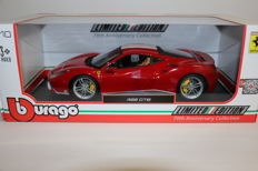 Bburago - Scale 1/18 - Ferrari 488 GTB - Red