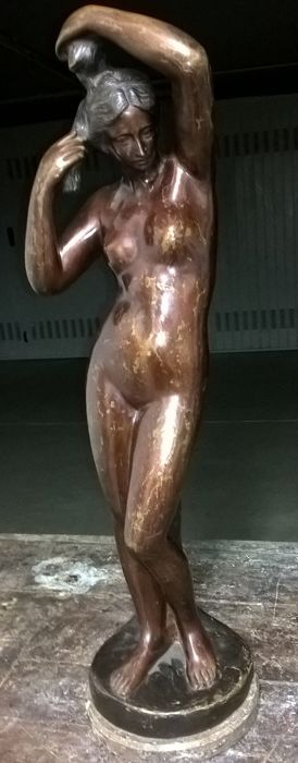 Beautiful bronze statue depicting a naked woman - 84 cm high