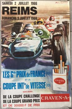 Grand Prize of Reims France - French original poster - 1966