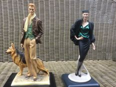 Two Tessardi figurines limited edition, second half 20th century