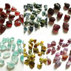 Lot of Spessartite Garnet, Sapphire, Spinel, Aquamarine, Sinhalite, Ruby - 3-13mm - 172ct
