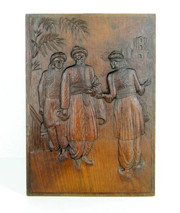 Wood carving in relief - Southern Europe - circa 1930