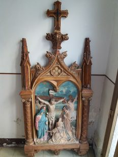 Station of the Cross in terracotta - France - 19th century