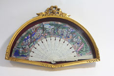 Fan with ivory plates - Chinese - Late 19th or early 20th century