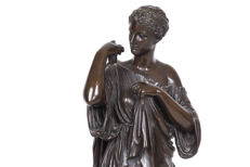 F. Barbedienne - bronze statue of Diana of Gabii - France - mid-19th century