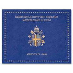 Vatican - year pack/ year collection 2002 - The Vatican's first Euro coins.