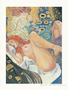 "Manara, Milo - lithograph ""Dedicated to Klimt"""