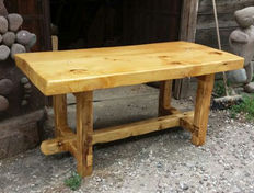 Rustic table in solid spruce