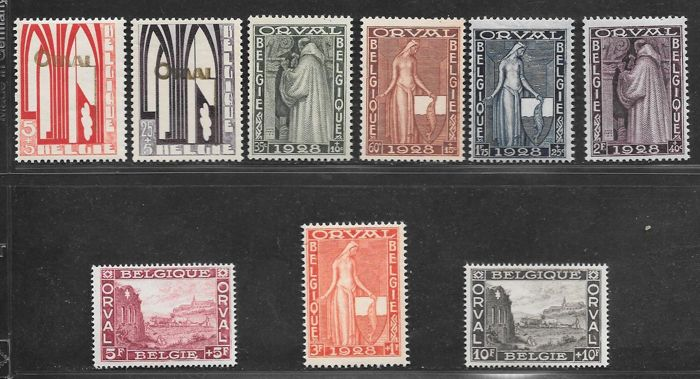 Belgium 1928 – First Orval – OBP 258/266