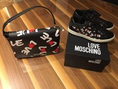 Love Moschino limited edition bag with matching trainers