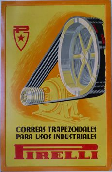 Pirelli, v-belts for industrial applications - c. 1950