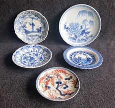 Lot of 5 porcelain saucers - China - 18th and 19th century
