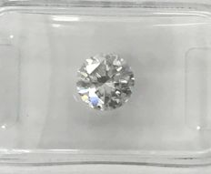 1.00ct Round brilliant - cut diamond natural D SI2