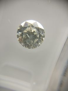 1.08 ct Round cut diamond H SI2