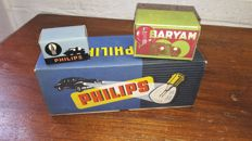 New Old Stock Philips and Baryam classic car lights in nice original packaging - 12 lights in 13 boxes