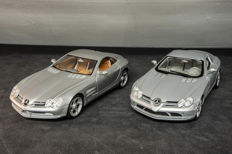 Maisto - Scale 1/18 - Mercedes-Benz Vision SLR -Dealer Edition & Mercedes-Benz SLR McLaren