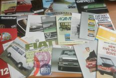 Lot 78 of car brochures from the sixties, seventies and eighties