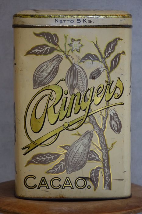 Ringers Cacao ship tin 5kg ca. 1920
