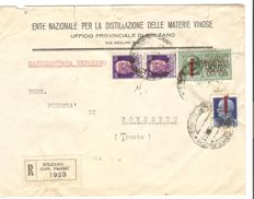 Italy 1944-1945 - RSI, lot of five mailed letters