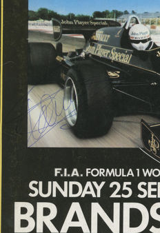 1983 & 1985 British  Grand prix  Programmes Signed by Patrick Tambay