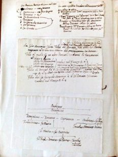 Ancient family tree - Silva Family - scroll of 22 pages - from 17th/18th/19th centuries