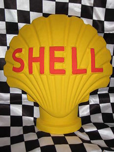 SHELL advertising figure for petrol station