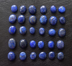 Set of Lapis Lazuli Cabochons - 9 to 14mm -120ct  (29)