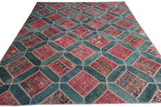 Persian Patchwork - Beautifully Designed from Different Hand Knotted Antique Rugs 305 cm x  243 cm