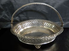 Sterling Silver Footed Pierced Basket, Portugal, ca. 1970's