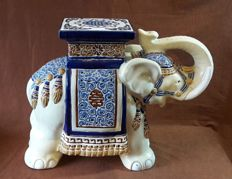 Very large ceramic elephant. A planter or side table - height 57 cm