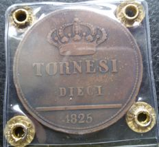 Italy, Kingdom of the Two Sicilies - 10 Tornesi 1825 - Francesco I Bourbon