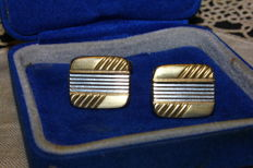 Silver and gold cufflinks from the 1960s