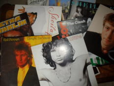 Lot of  10 LP,  in vinyl - varous artists -Clash, Doors, John Lennon, Rod Stewart, Aretha Franklin, Supertramp, Sheila E, John Denver