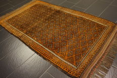 Antique hand-knotted Persian collectors' carpet Beluch Collector Rug Carpet Tappeto Rug Made in Iran 120 x 210 cm