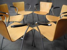 Vico Magistretti for Fritz Hansen - Set of six VicoDuo dining chairs