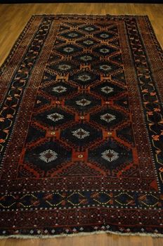 Antique oriental carpet Baluch approx. 360 x 190, collector's item