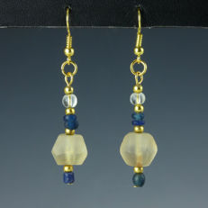 Earrings with Roman glass beads - 57,1 mm