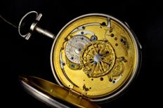 Verge fusee quarter repeater pocket watch  - Unisex - 1850-1900