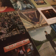 Lot of 11 albums - softrock / poprock - Elton John, Rod Stewart, Cat Stevens, Randy Newman and more