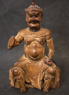 Niō  仁王 Kongōrikishi  金剛 力士 protector of Buddha - Japan - 18th century (Edo period)