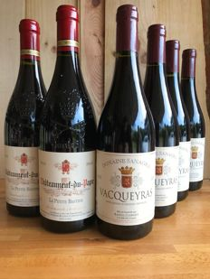 2010 Chateauneuf du Pape La Petite Bastide x 2 bottles and 2010 Vacqueyras Domaine Sanagra x 4 bottles / 6 bottles in total