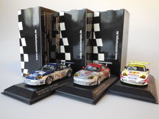Minichamps - Scale 1/43 - Lot with 3 x Porsche 911 GT3 RSR 24h Le Mans 2005