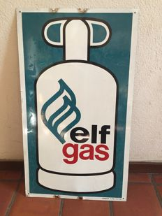 Beautiful enamel sign of Elf gas - 1983 a real collector's item