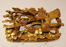 Fenghuang 鳳凰 Phoenix (mythical bird)  carving – China – late 19th/early 20th century