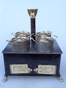 Children's stove - tin with brass - Germany - ca. 1900
