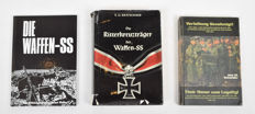 Lot with three books about the Waffen-SS - 1977/1994
