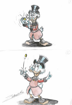 Vendetta, Z. - Original Color Sketch - Uncle Scrooge